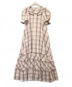 maturely(マチュアリー)の古着「Dobby Ranch Dress フレアマキシワンピース」|ブラウン