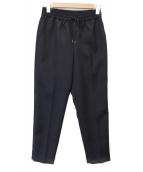 BEAUTY&YOUTH(ビューティアンドユース)の古着「カルゼドローストテーパードパンツ」 ブラック