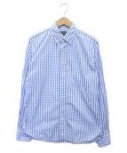 ()の古着「ギンガムチェックシャツ」 ブルー×ホワイト