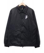 ()の古着「中綿コーチジャケット」 ブラック