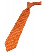 HERMES(エルメス)の古着「シルクネクタイ」|オレンジ
