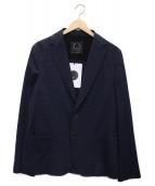 ()の古着「チェックテーラードジャケット」 ネイビー