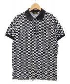 FENDI(フェンディ)の古着「ヴィンテージポロシャツ」|ホワイト×ブラック