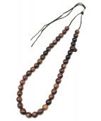 DIOR HOMME(ディオール オム)の古着「スカル数珠ネックレス」|ブラック