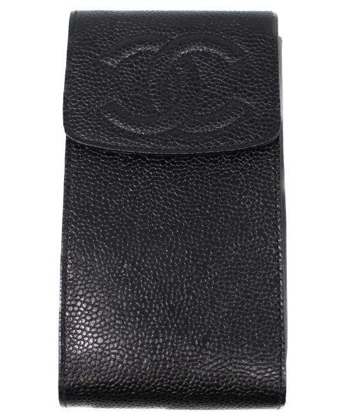 CHANEL(シャネル)CHANEL (シャネル) ヴィンテージチェーンショルダーフォンケース ブラック サイズ:下記参照の古着・服飾アイテム