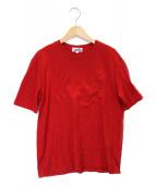 HERMES(エルメス)の古着「刺繍ロゴTシャツ」|レッド