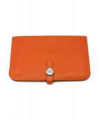 ()の古着「長財布」|オレンジ