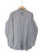 INDIVIDUALIZED SHIRTS(インディビジュアライズドシャツ)の古着「ストライプシャツ」|グレー×ホワイト