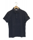 MONCLER(モンクレール)の古着「鹿の子ポロシャツ」|ネイビー