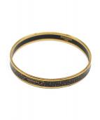 HERMES(エルメス)の古着「エマイユ PM/バングル」 ゴールド×ブラック
