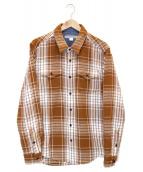 ()の古着「Blanket Shirt」|ブラウン×ホワイト