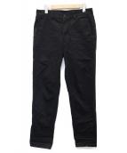 ()の古着「テーパードチノパンツ」|ブラック