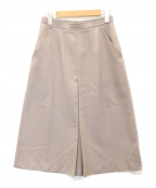 Maison Martin Margiela(メゾンマルタンマルジェラ)の古着「プリーツデザインスカート」|ベージュ