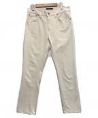 NUDIE JEANS(ヌーディジーンズ)の古着「スキニーフィット デニムパンツ」|アイボリー