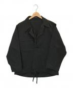 YOHJI YAMAMOTO(ヨウジヤマモト)の古着「コットンプルオーバーシャツ」|ブラック