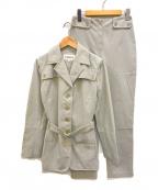 ICEBERG(アイスバーグ)の古着「ヴィンテージベルテッドセットアップ」|グレー