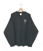 NIKE×STUSSY(ナイキ×ステューシー)の古着「Fleece Crew Sweatshirt」|ブラック