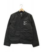()の古着「スウッシュキルテッドジャケット」|ブラック