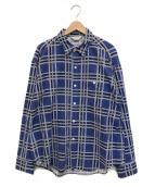 ()の古着「コットンビッグチェックシャツ」|ブルー