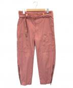 URU(ウル)の古着「ベルテッド フライトパンツ」|ピンク