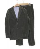 ()の古着「コーデュロイセットアップ」|チャコールグレー