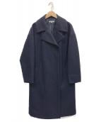 NATURAL BEAUTY(ナチュラルビューティー)の古着「MIXウールニットコート」|ネイビー