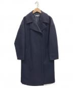 NATURAL BEAUTY(ナチュラルビューティー)の古着「MIXウールニットコート」 ネイビー