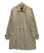 ()の古着「ラムレザーコンビステンカラーコート」|ベージュ
