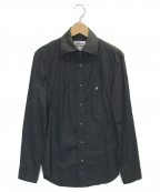 Vivienne Westwood man()の古着「オーブ刺繍ドレスシャツ」 ブラック