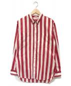()の古着「ストライプシャツ」|ホワイト×レッド