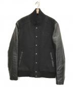 JACKROSE(ジャックローズ)の古着「袖レザー切替スタジャン」 ブラック