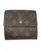 LOUIS VUITTON()の古着「ポルトフォイユ・エリーズ/3つ折り財布」|ブラウン