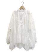 FRAMeWORK(フレームワーク)の古着「R/Cボイルタックブラウス」 ホワイト