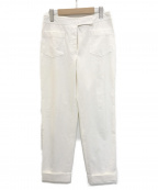 CHANEL()の古着「コットンフルレングスパンツ」|ホワイト