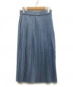 YANUK(ヤヌーク)の古着「プリーツ デニムスカート」 インディゴ