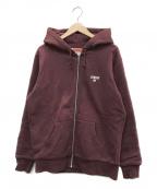 SUPREME()の古着「Crown Zip Up Sweatshirt」|バーガンディー