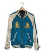 RUDE GALLERY(ルードギャラリー)の古着「マリア刺繍スカジャン」 ブラック