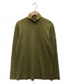 OAMC(オーエーエムシー)の古着「バックフォトボーダーハイネックカットソー」|オリーブ