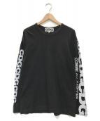 ()の古着「Logo Print Long Sleeve T-Shirt」|ブラック