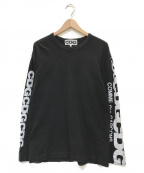 CDG(シーディージー)の古着「Logo Print Long Sleeve T-Shirt」 ブラック