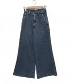 R.H.Vintage(ロンハーマン・ヴィンテージ)の古着「刺子カットオフフレアデニムパンツ」 インディゴ
