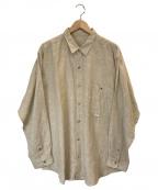 PAPAS(パパス)の古着「コットンリネンシャツ」 ベージュ