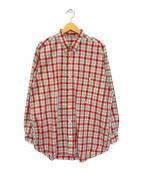 ()の古着「チェックシャツ」 レッド×グリーン
