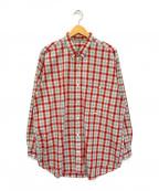 PAPAS(パパス)の古着「チェックシャツ」 レッド×グリーン