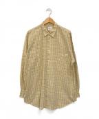 PAPAS(パパス)の古着「チェックシャツ」 イエロー×パープル