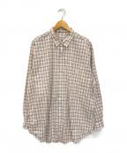 PAPAS(パパス)の古着「チェックシャツ」 ベージュ×パープル