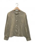 MARGARET HOWELL(マーガレットハウエル)の古着「ウォッシュ加工 長袖シャツ」 カーキ