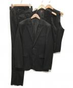 TAKEO KIKUCHI(タケオキクチ)の古着「3ピース セットアップ スーツ 」 ブラック