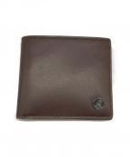 agnes b homme(アニエスベーオム)の古着「バイカラー 2つ折り財布」 ブラウン×グリーン