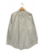 ()の古着「チェックシャツ」 ベージュ×ブルー